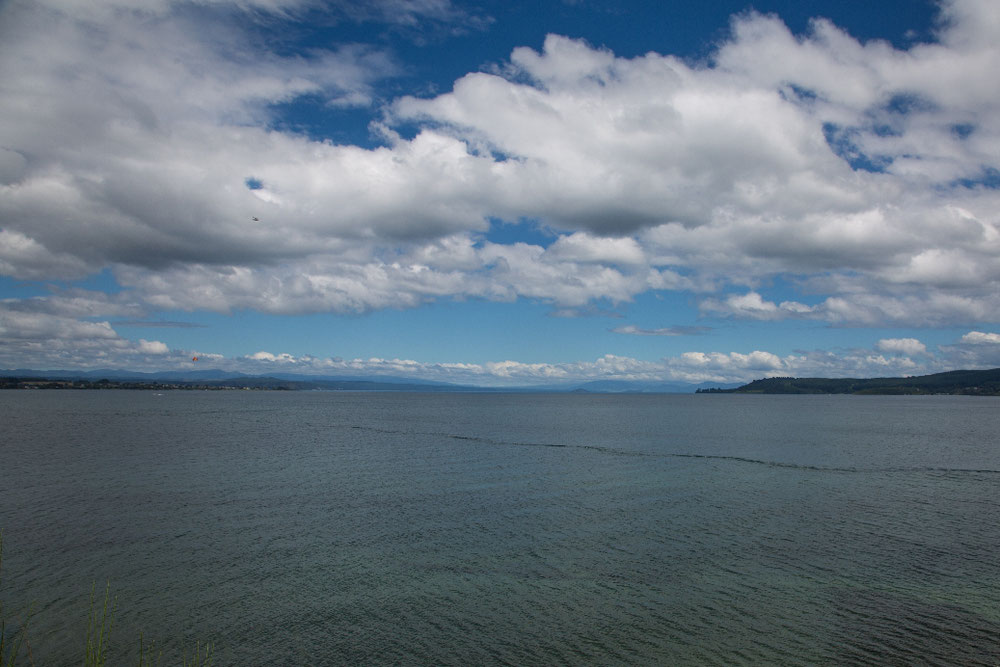 Lake Taupo ...
