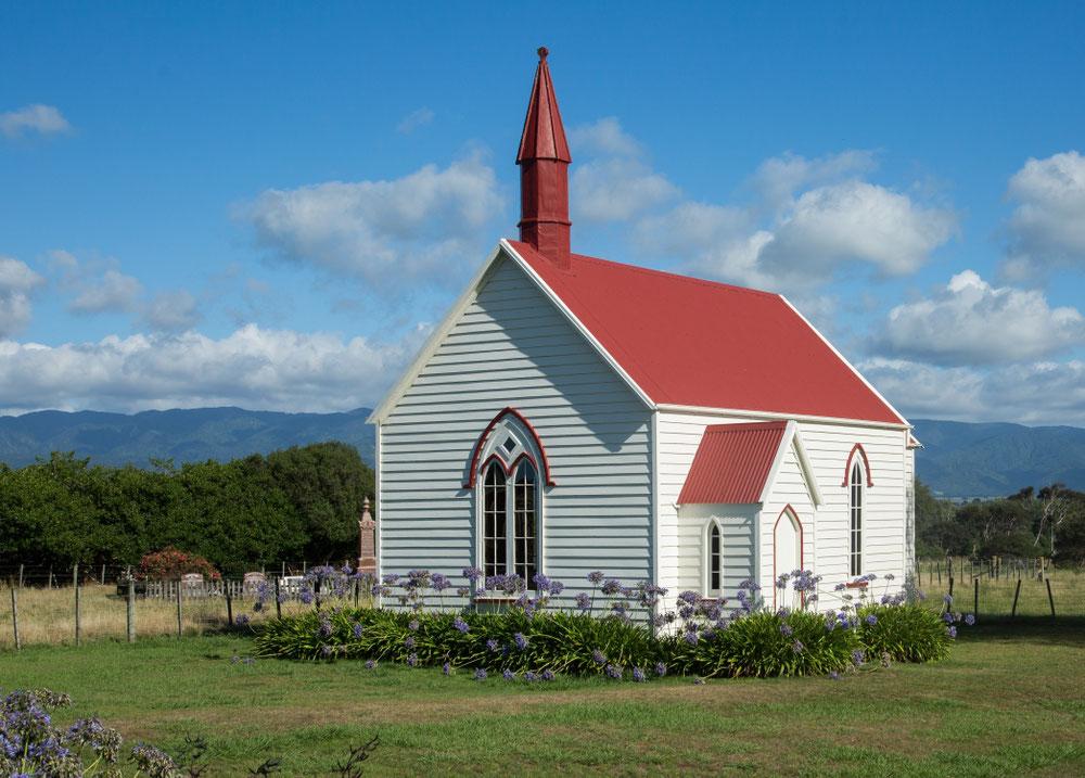 Unterwegs wieder kleine Kirchen auf dem Lande ...