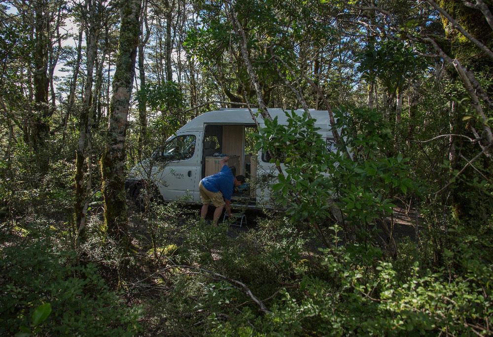 ... gutgelaunt und voller überwältigender Eindrücke im Dschungelcamp unser Nachtlager aufschlugen.