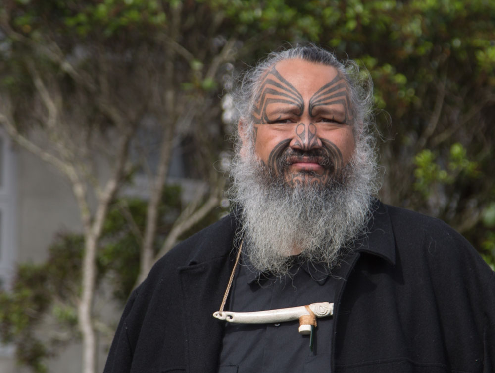 ... unterwegs auch diesen coolen Typen getroffen. Ganz Maori.