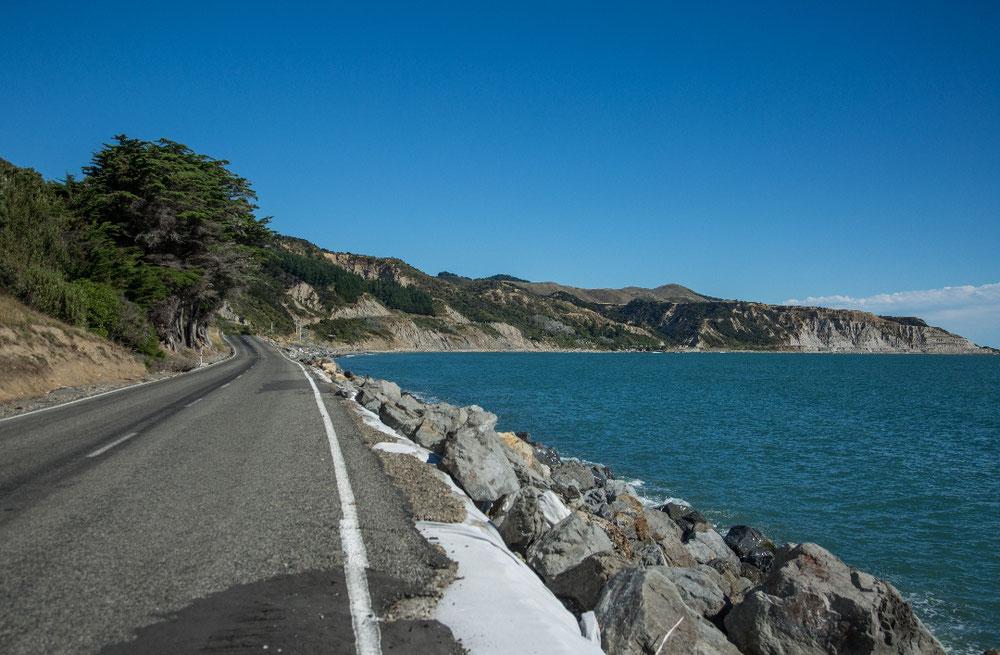 Cape Palliser, am südlichen Zipfel der Nordinsel, unweit von Wellington, wo wir Donnerstag auf die Fähre gehen.