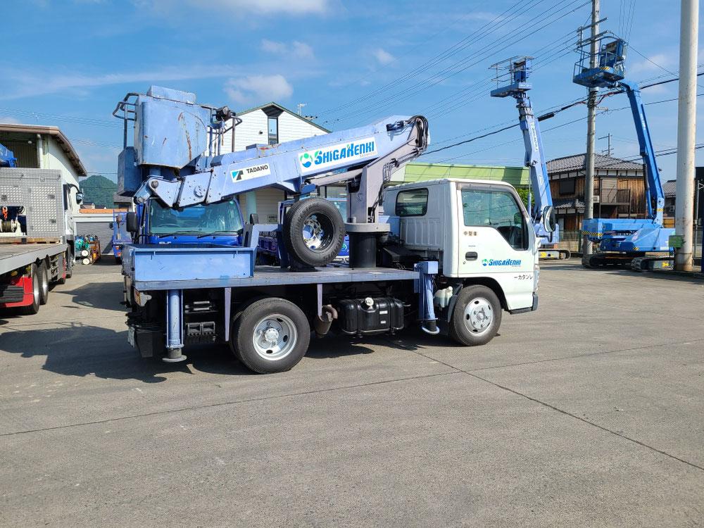 高所作業車10m未満を滋賀建機さんにてレンタル
