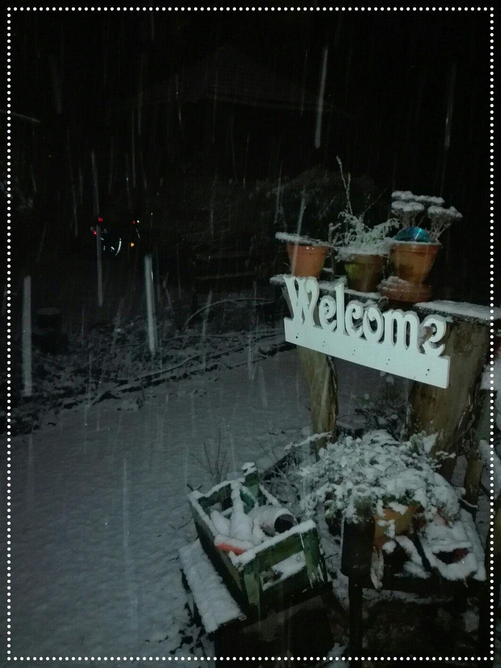 Und heute gab es Schnee