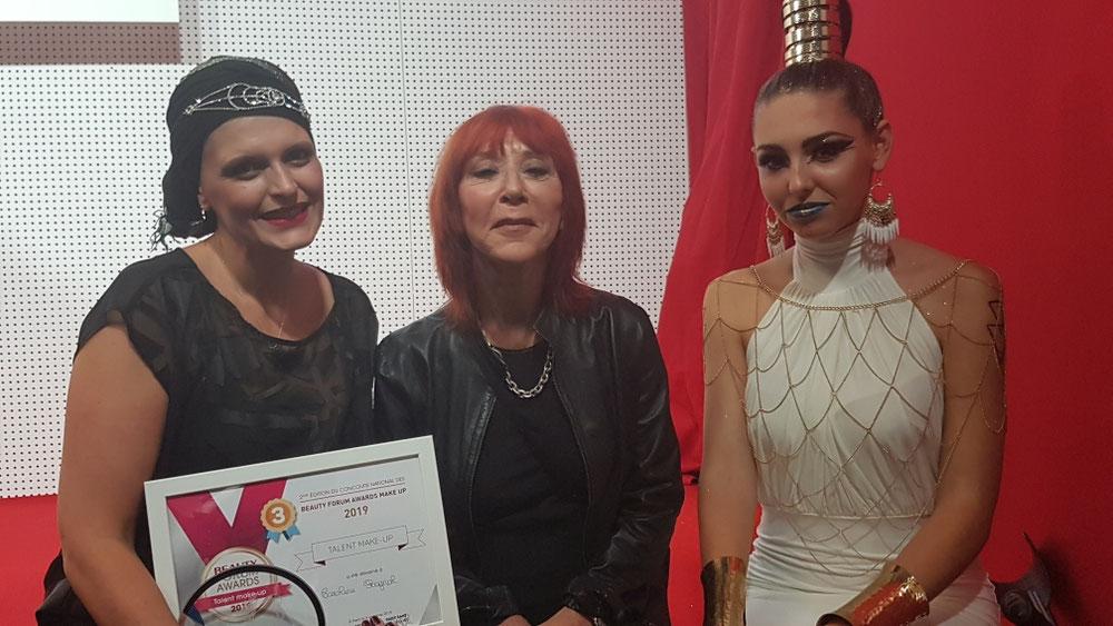 Dany Sanz  créatrice de la marque Make up for ever  faisait parti du  jury lord de ce concours