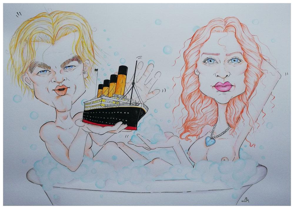 Rose und Jack spielen Schifffahrt in der Badewanne...