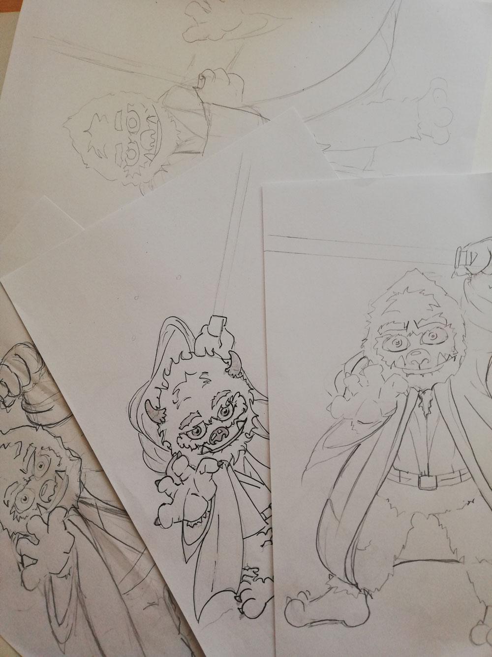 ...ein paar Skizzen...