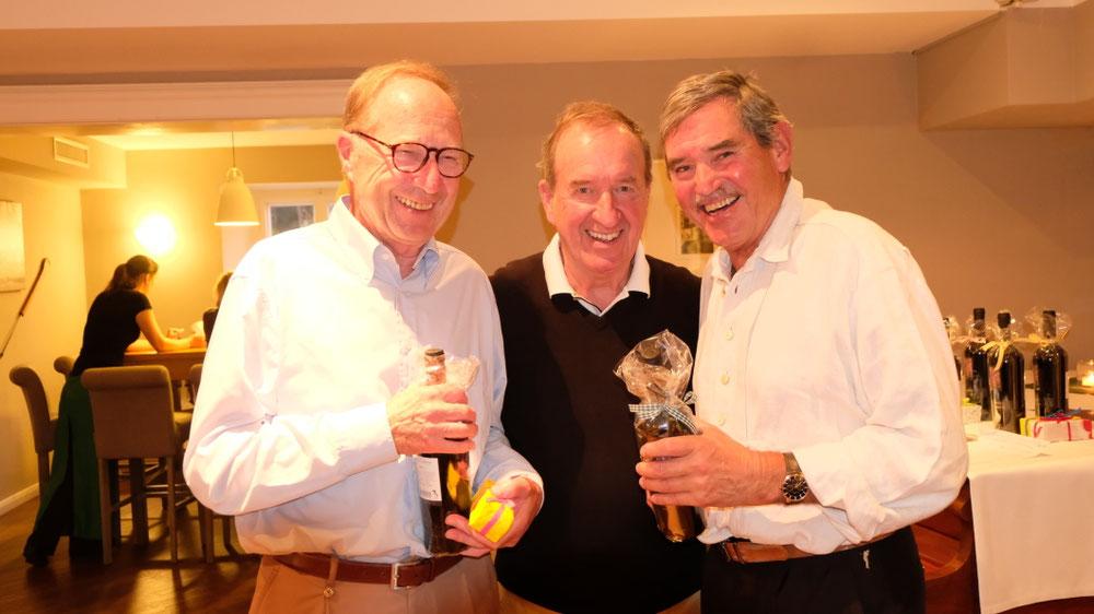 Netto-Sieger Gerhard Bürger und Bert Klaus mit Roland Huber
