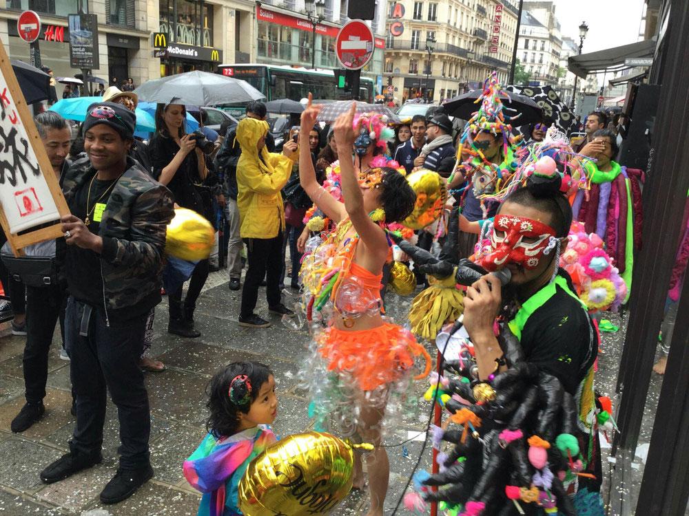 岡山芸術家集団「アマンジャク」によりパリのアトリエギャラリー59Rivoli にて2018.5/12パフォーマンス開催!衣装を担当しました。映像はこちら→https://youtu.be/aCDNzbqU6rE