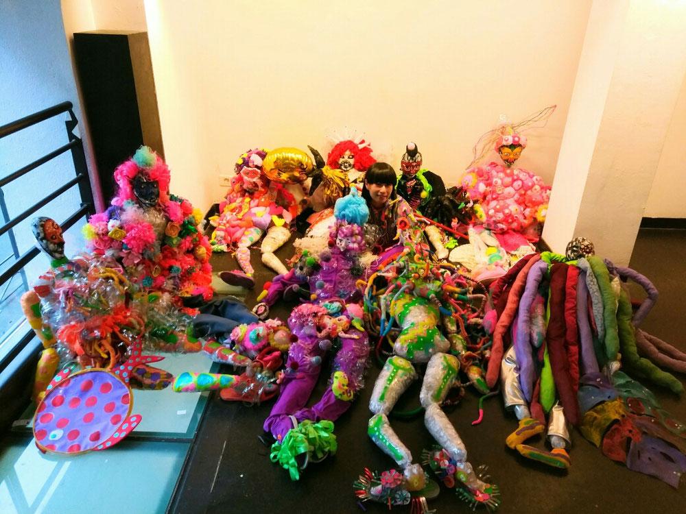 「アマンジャクの旅」巡回展開催!2018.9/11~10/28 2018年春、パリ59Rivoli で開催したアートパフォーマンス衣装をオマージュした衣装作品を展示しています!(田町文化ストア/岡山)