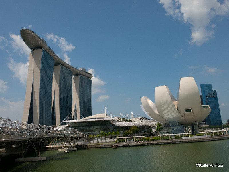 Marina Bay Sands, Hotel, Invinity Pool, Luxushotel, by Night, Singapur, Asien