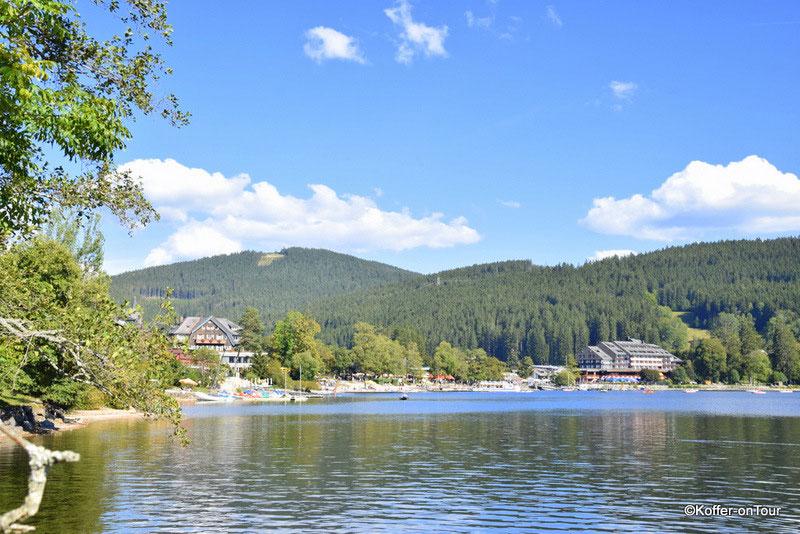 Titisee Neustadt, Schwarzwald, Ausflug, See, Koffer on Tour