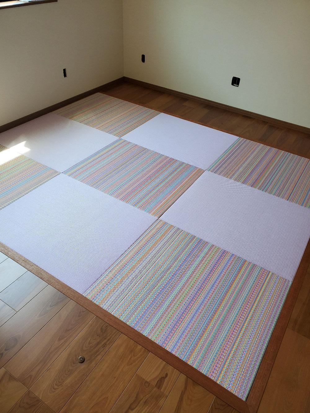 新築物件セキスイ2色使いへりなし新畳