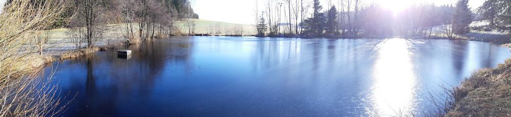 Das Eis ist leider noch zu dünn...