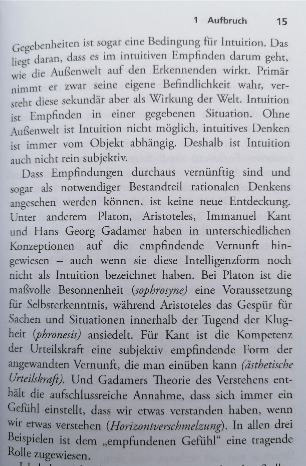 Was ist Intuition? Fortsetzung ( Was ist wesentlich, Springer 2020,S.14-15)