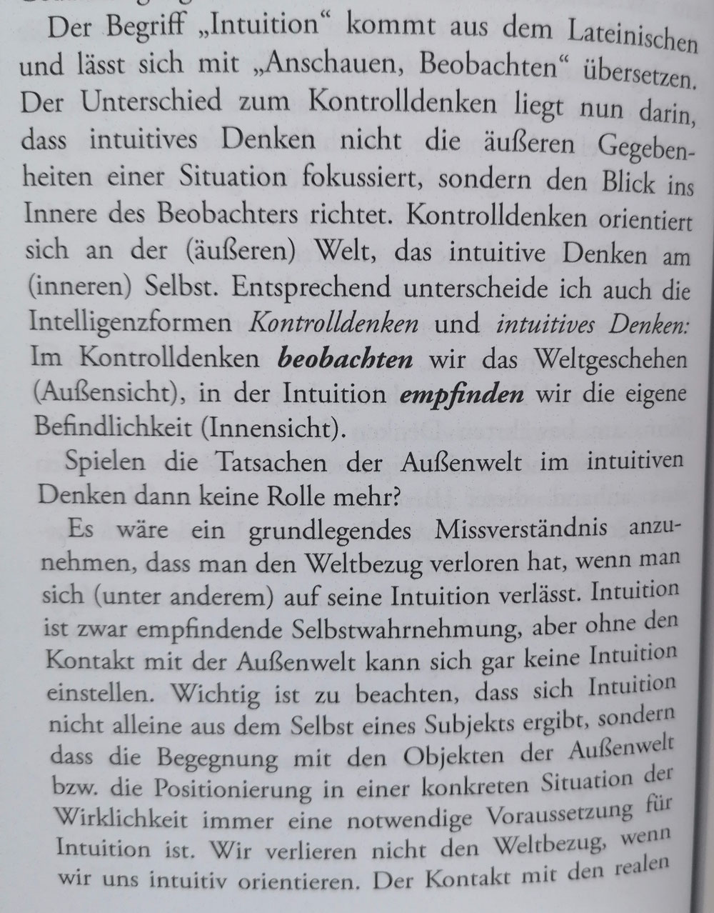 Was ist Intuition?