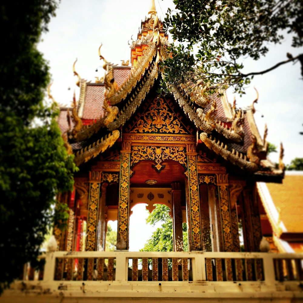 Thai Temple in Chian Mai. Religion can be a beauty!