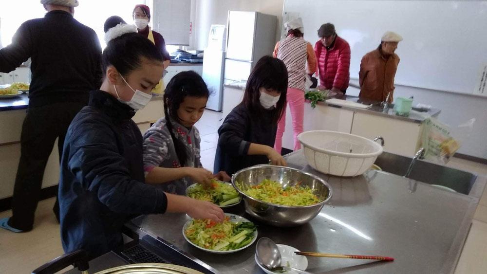 子供達もお料理楽しみました