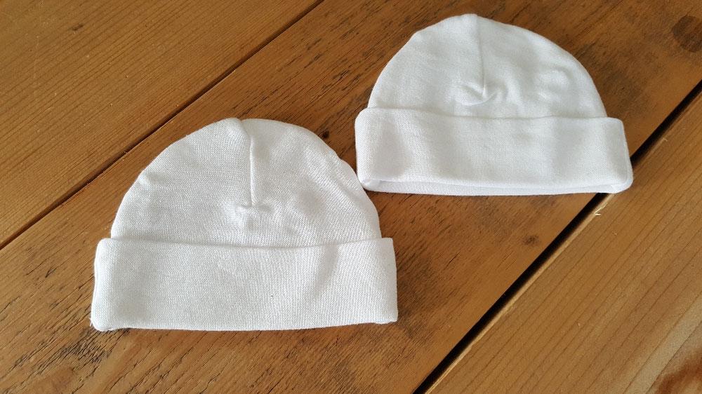 Babymutsje te bedrukken met naam of tekst naar keuze