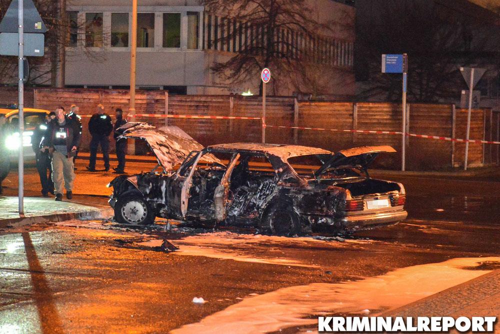 Mit diesem Mercedes rammten die Täter den Geldtransporter.|Foto: Kriminalreport