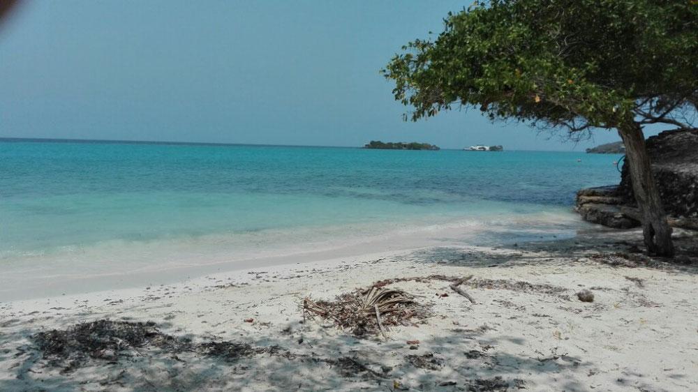 Ziel erreicht. Erholung an recht ruhigem Strand
