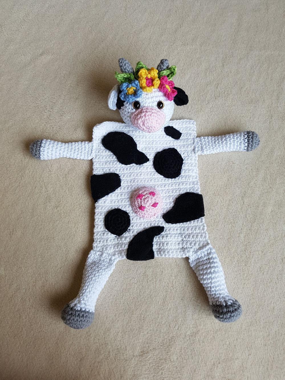 Kuscheltuch-Kuh design Dat Yarn's