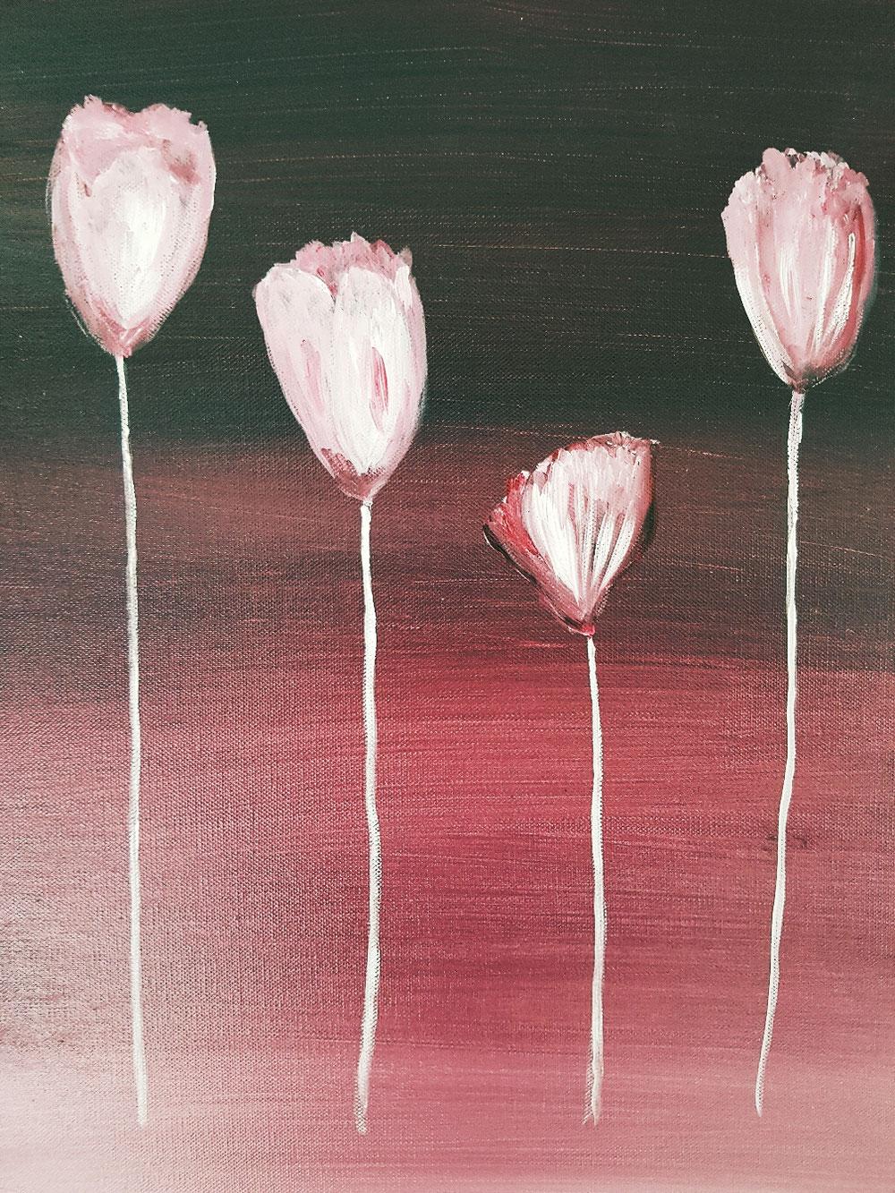 """Tulpen"" - Acryl auf Leinwand 2004"