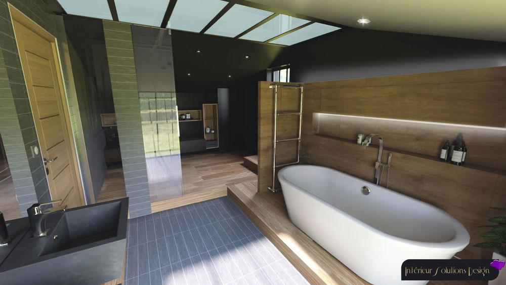 salle de bains sous combles style industriel