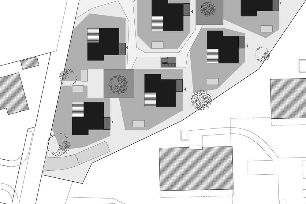 Überbauungsplan Verdichtung ©2019 Welte Architetkur