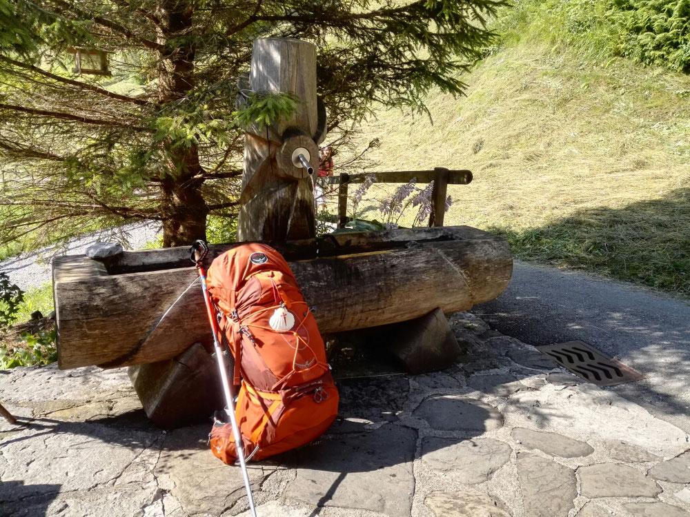 In der Schweiz gibt's sehr oft und sehr gute Wasserbrunnen