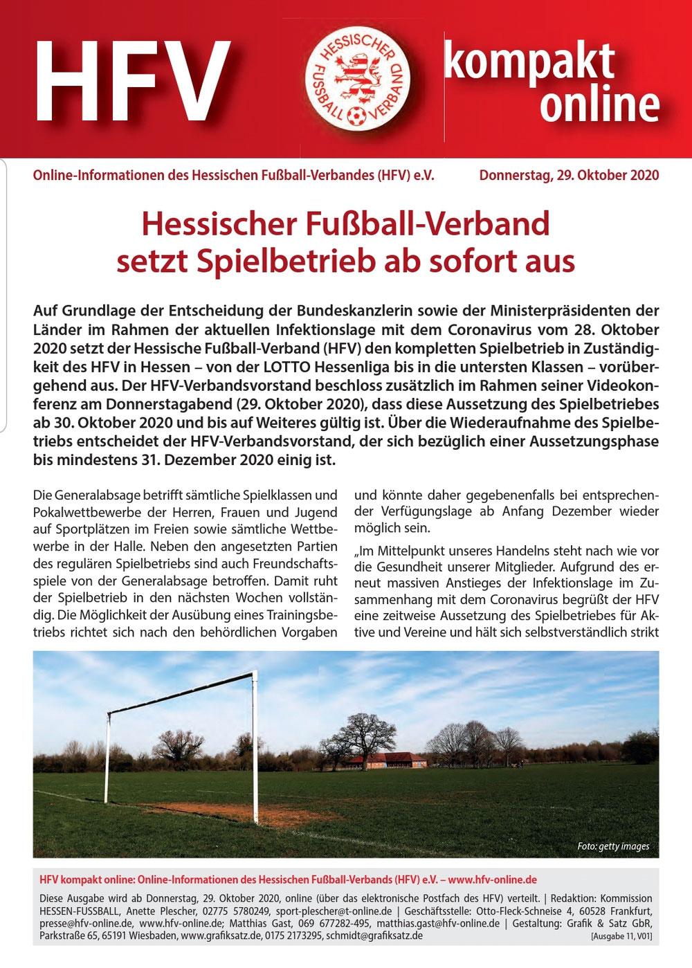 HFV kompakt online vom 29.10.20