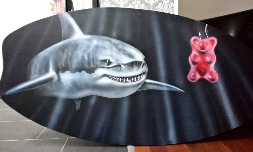 Hungrier Hai auf Board