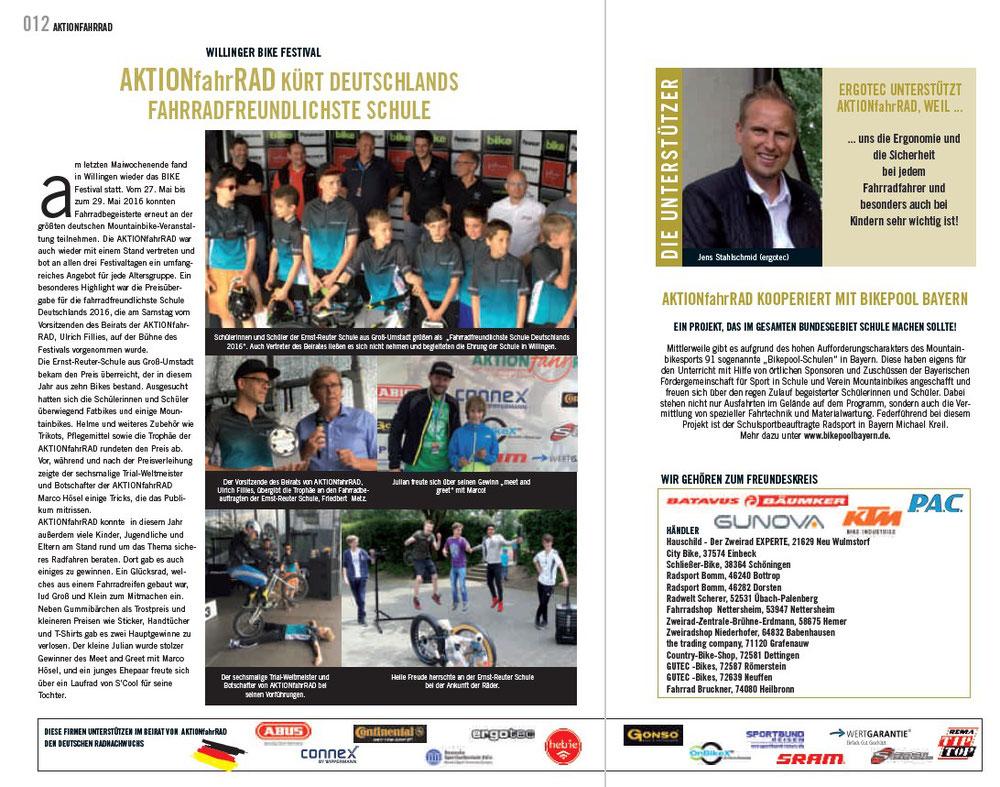 AKTIONfahrRAD kürt Deutschlands fahrradfreundlichste Schule