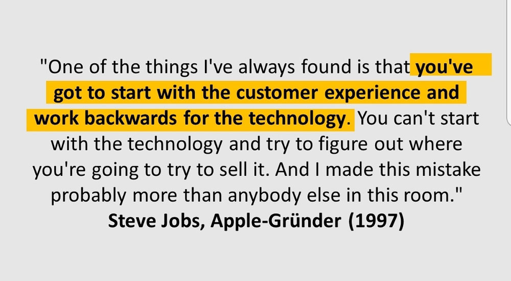 Steve Jobs & CX: Start with CX and work Backwards
