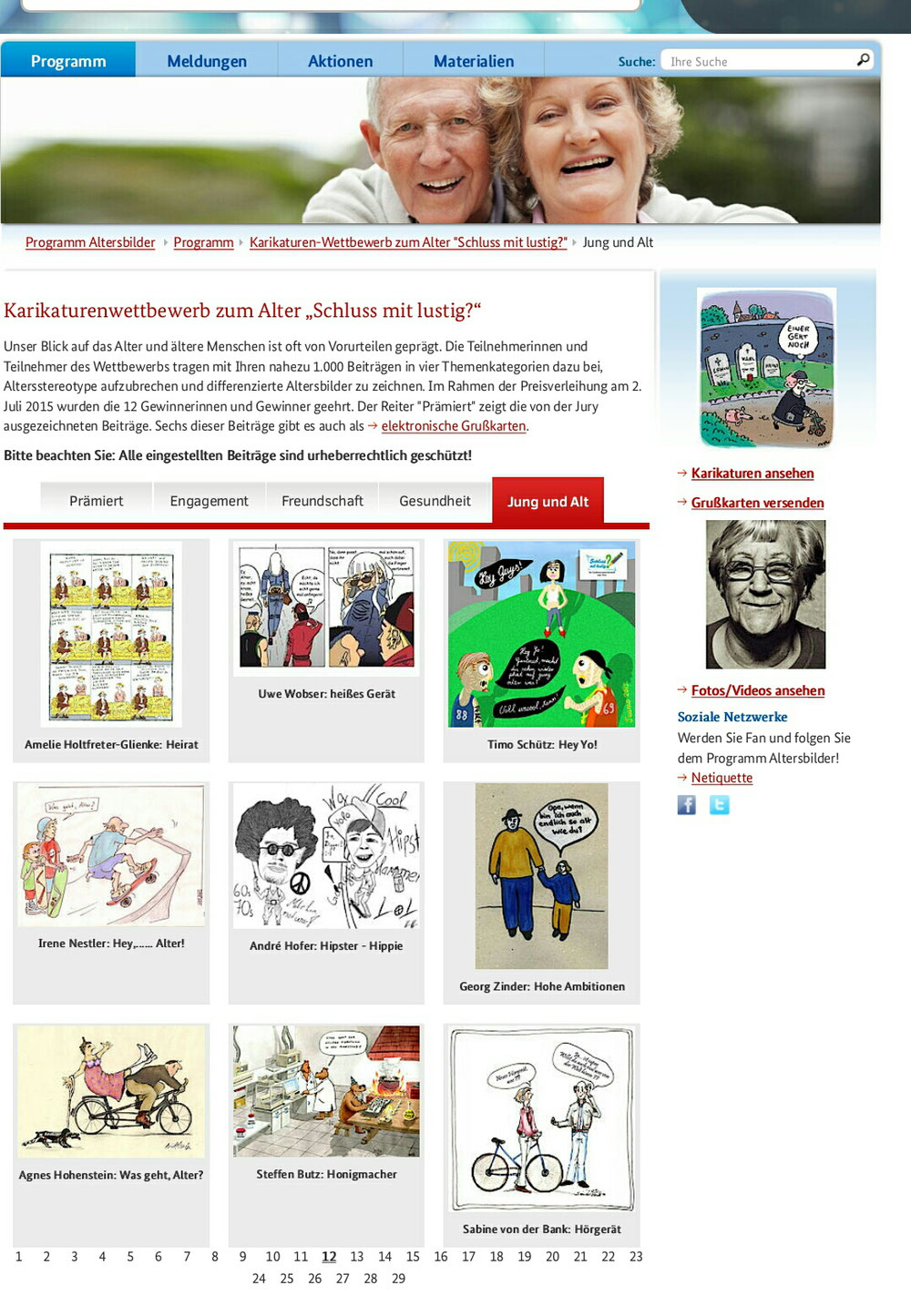 Teilnahme  Comic-Wettbewerb des Familienministeriums Berlin