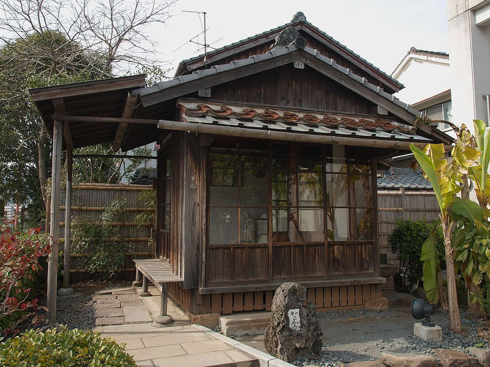永井隆博士が戦後住んだ如己堂。「己の如く人を愛せよ」という言葉から名付けられた。