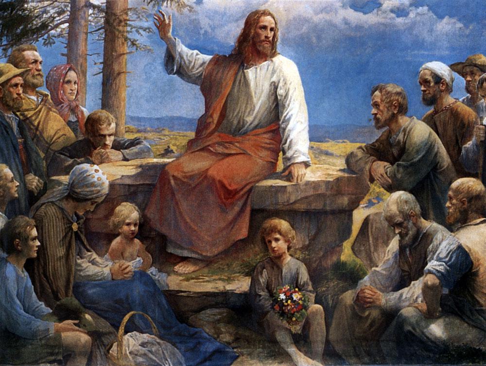 ルドルフ・イェーリン「シュヴァルツバルトの山上の説教」、1912年、ライヒェナウ福音教会
