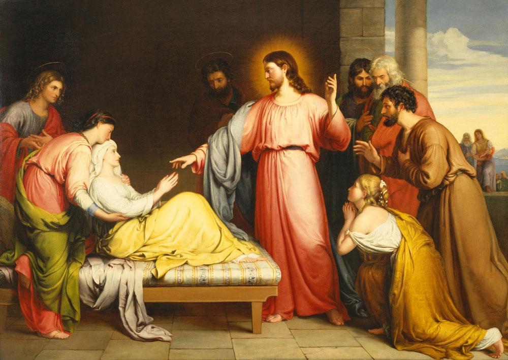 ジョン・ブリッジズ「キリスト、ペトロの姑を癒やす」、1839年、バーミングハム美術館