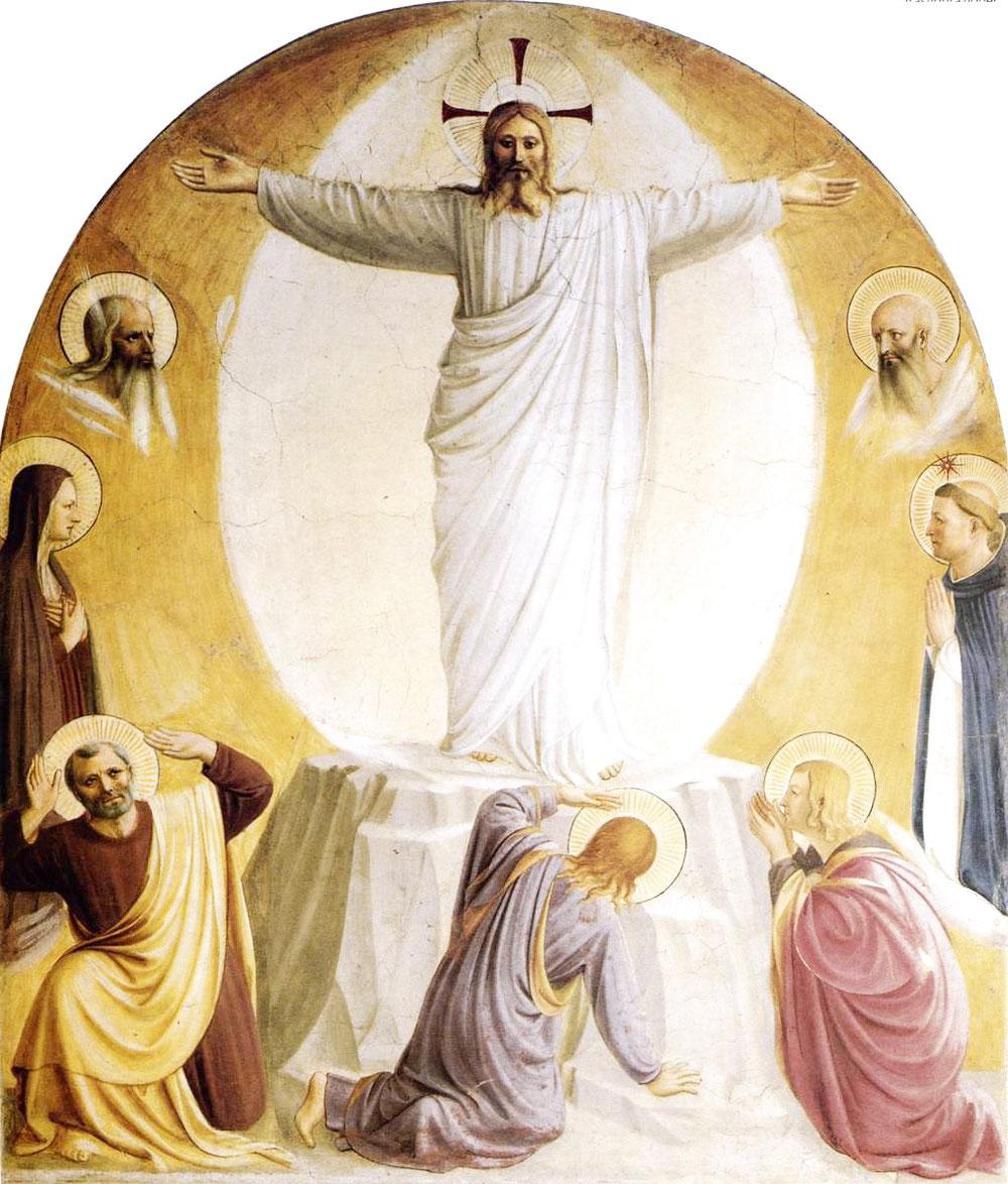 フラ・アンジェリコ「変容」、1440―42年、サン・マルコ美術館