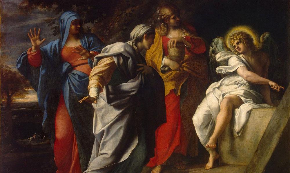 アンニーバレ・カラッチ「キリストの墓の聖婦女」、1590年代、エルミタージュ美術館所蔵
