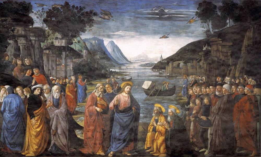ドメニコ・ギルランダイオ「使徒たちの召命」、1449年、システィーナ礼拝堂