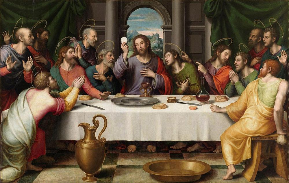 フアン・デ・フアネス「最後の晩餐」、1562年頃、プラド美術館所蔵