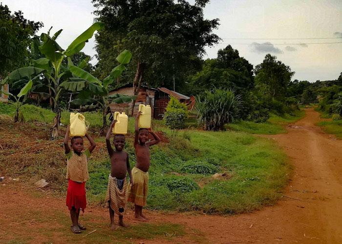 Hauts comme trois pommes, mais ils font des kilomètres en portant l'eau..!
