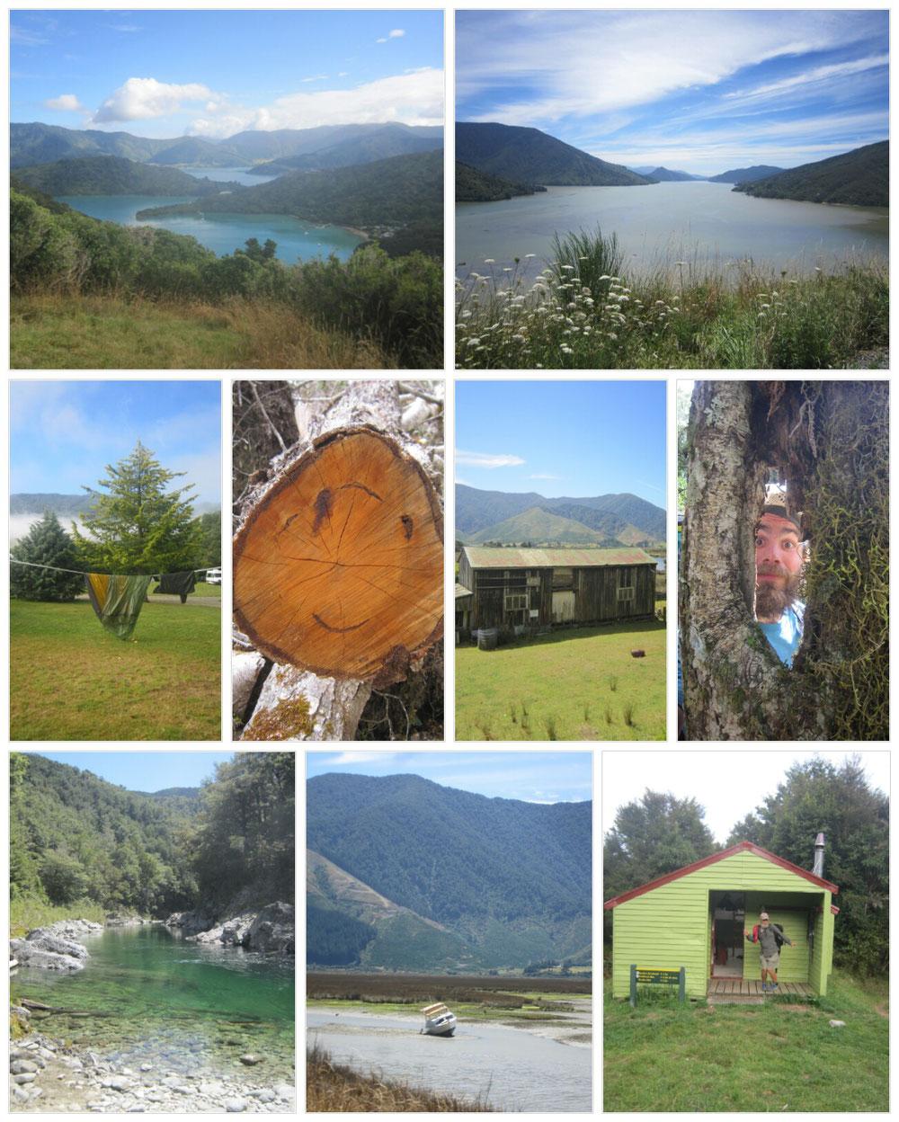 In dieser Collage enthalten ein Foto des neuseeländischen Studios der ARD