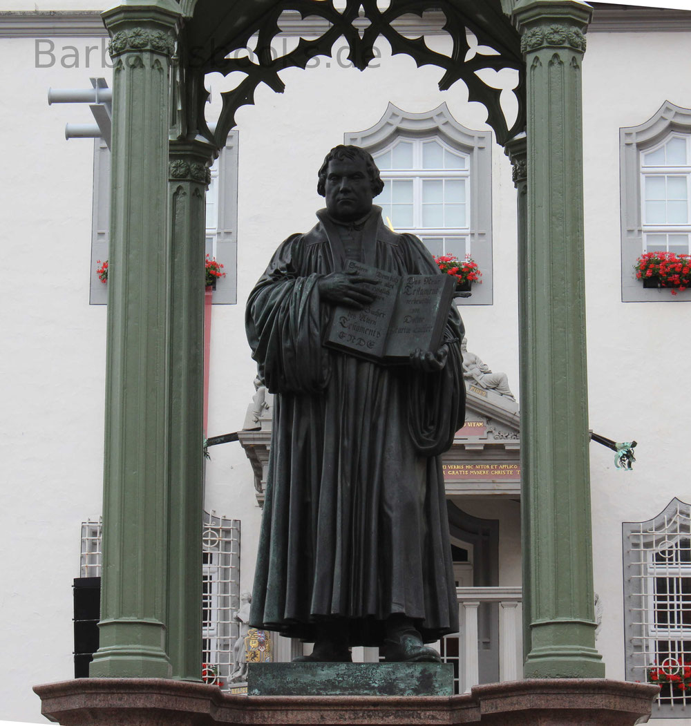 Martin Luther Statur in Wittenberg 2017
