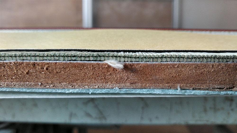 15㎜仕上がりの薄畳の断面です。