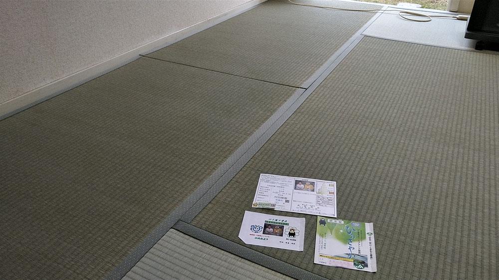 畳表は、熊本産表 畳縁は、暮四季No320を使用しました。