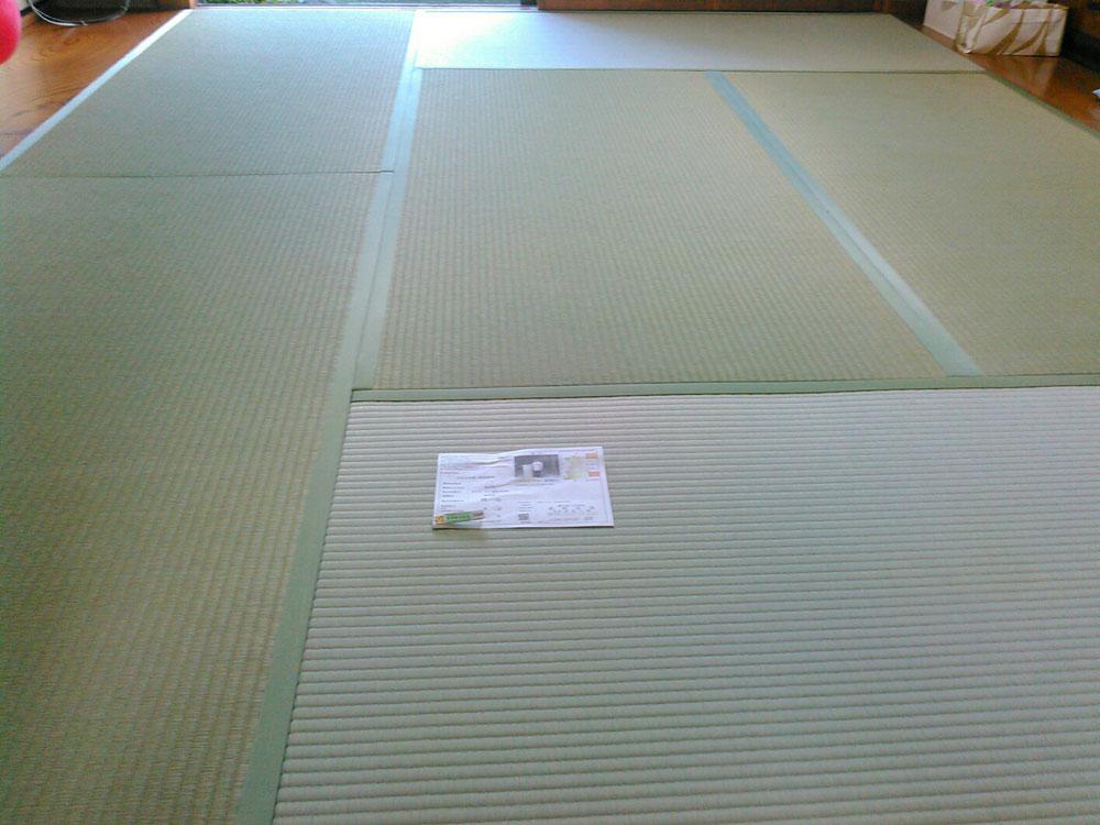 熊本産本間(京間用)麻綿W表を使用して、畳替えしました。