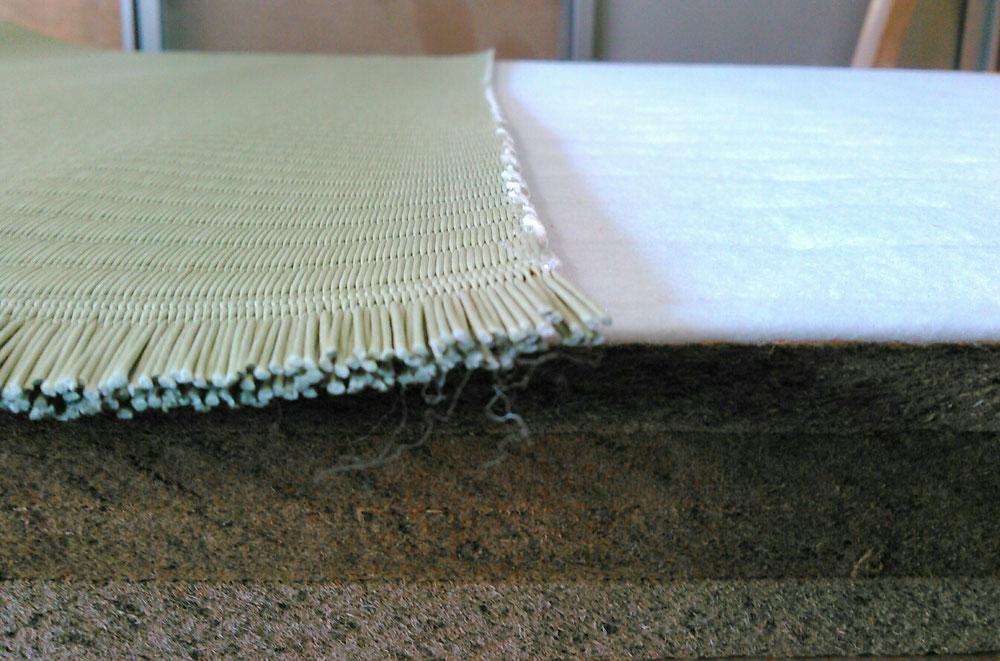 建材床の軽量ボード床とセキスイMIGUSAです。