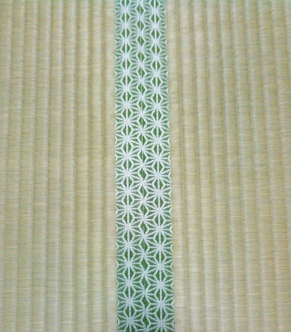 畳縁 鯔背No50 熊本産麻綿W表ひのはるかで表替えしました。