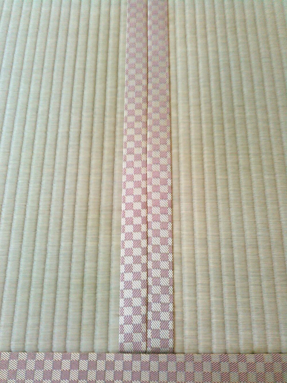 畳縁 ルーミーⅣ No42 熊本産麻綿W表ひのはるかで表替えしました。